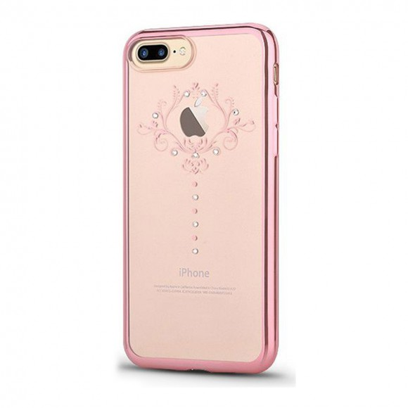 Devia Crystal Iris Soft Series Case for iPhone 7 plus - Rose Gold