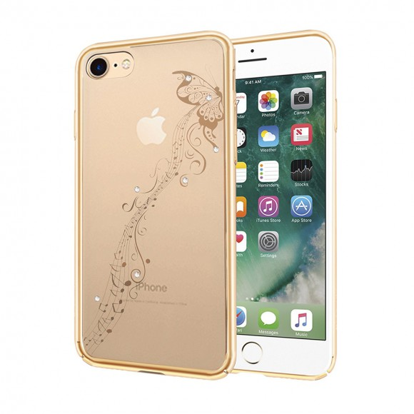 Devia Crystal Papillon Champagne Gold for iPhone 7 & iPhone 8