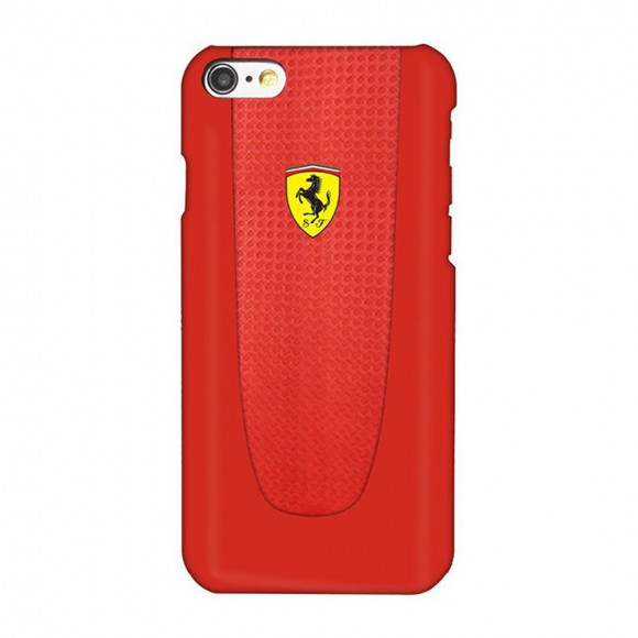 Ferrari PIT STOP - iPhone 7 Hard Case - Red Trim - Red Carbon