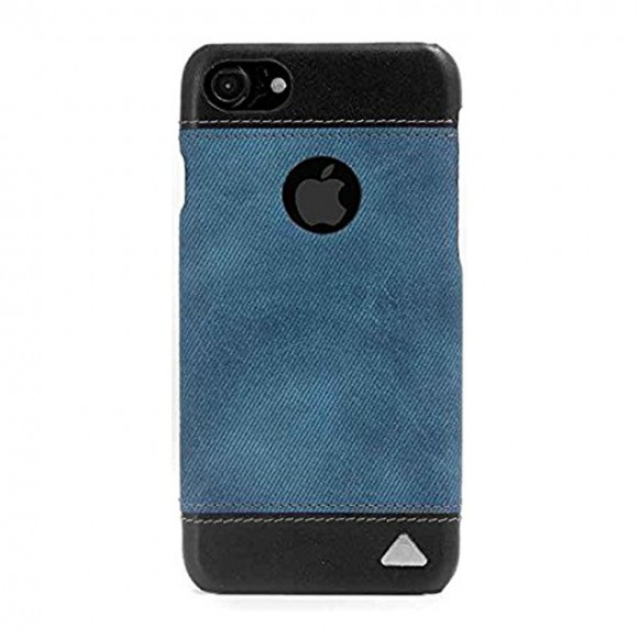 Stuffcool Denim Leather Back Case Cover for Apple iPhone 7 - Blue