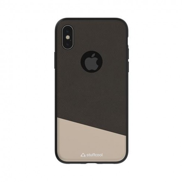 Stuffcool Perla Dual Tone Fashion & Stylish Leather Classy Business Back Case Cover for Apple iPhone X 3