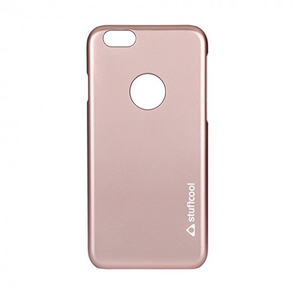 Stuffcool Feel Hard Smooth Back Case Cover For Apple iPhone 6 - 6s - Rose Gold (FLIP647-RGLD)