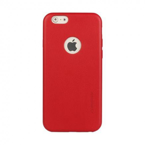 Stuffcool Haut Leather Hard Back Case Cover for Apple iPhone 6 - 6S RED