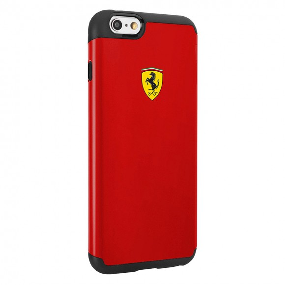 Ferrari Paddock Shockproof Case 2 Parts for iPhone 6-6S- Red