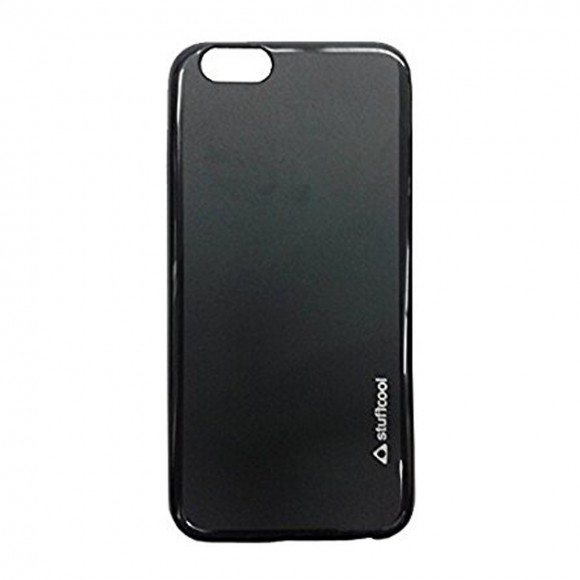 Stuffcool Lisse Soft Back Case Cover for Apple iPhone 6 Plus - 6s Plus- Solid Black