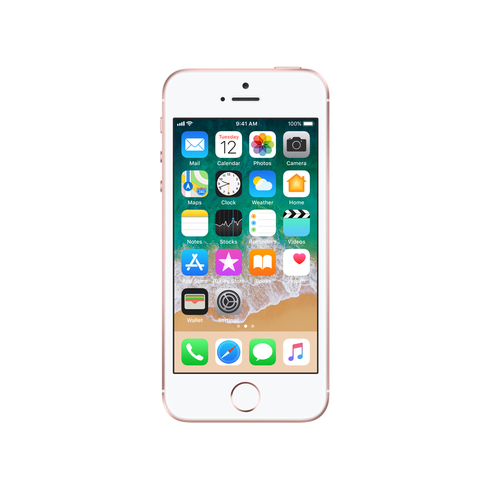 sysme apple authorized iphone se 32gb rose gold mp852hn a. Black Bedroom Furniture Sets. Home Design Ideas