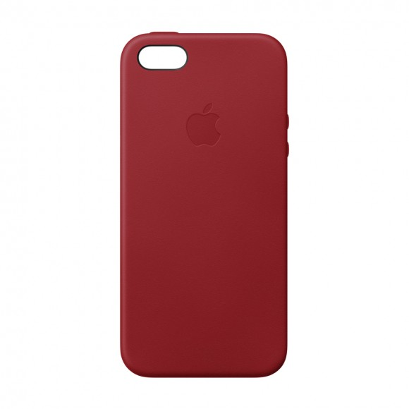 iPhone SE Leather Case RED