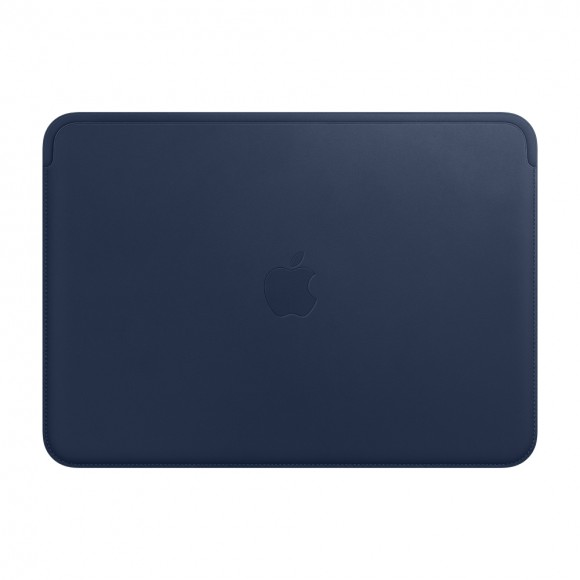 Leather Sleeve for 12‑inch MacBook Midnight Blue