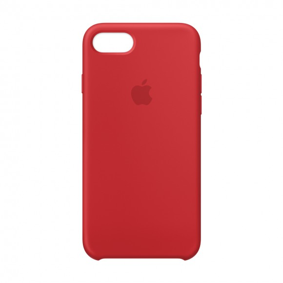 iPhone 8 -7 Silicone Case RED